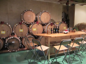 Fabbioli Cellars Tasting Tables