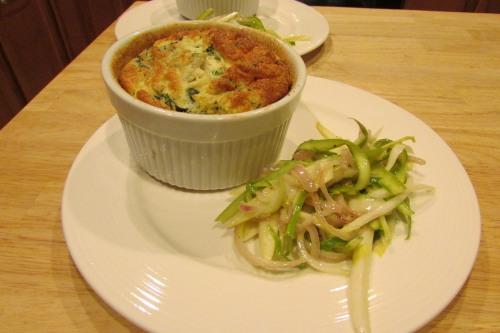 asparagus and endive salad up close