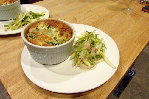 souffle with side salad