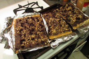 break Matzoh toffee crunch into pieces