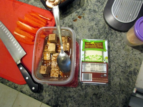 Marinating Sprouted Tofu