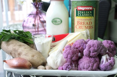 Purple Cauliflower Potato Gratin Ingredients