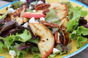 Grilled Apples on Salad 2