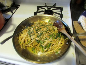 Toss the breadcrumbs with pasta