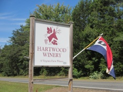 Hartwood Winery Road Sign